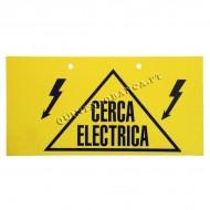 Placa de Aviso Cerca Eléctrica