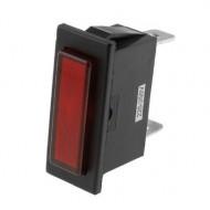 Luz Avisadora Rectangular Vermelha 220V