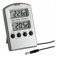 Termómetro Digital 2 Displays + Sonda - Cinza