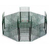 Armadilha - Gaiola Octogonal 4 Portas p/ Passaros 100x30cm