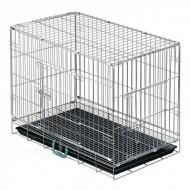 Jaula Transporte Cães Arame Reforçado 60x60x60 CP