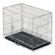 Jaula Transporte Cães Arame Reforçado 109x71x80cm CP c/ Tabuleiro
