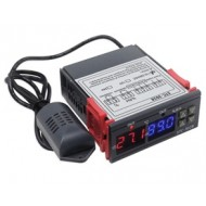 Termo Higrostato Digital c/ 2 saídas p/ Humidade e Temperatura 220v STC